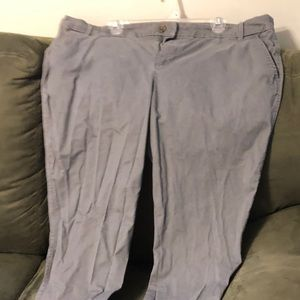 Old Navy gray bootcut pants. GUC.